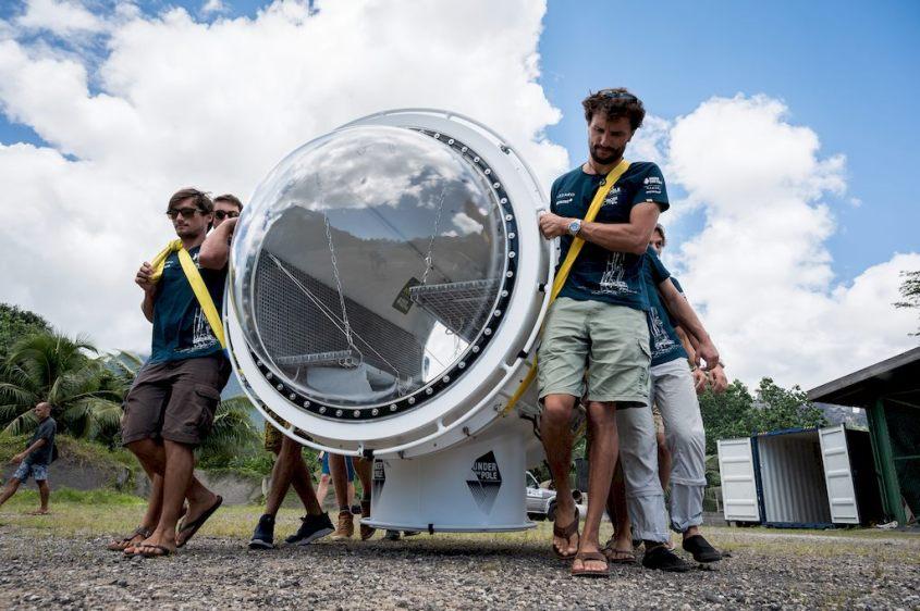La capsule Under the pole avant sa mise à l'eau.