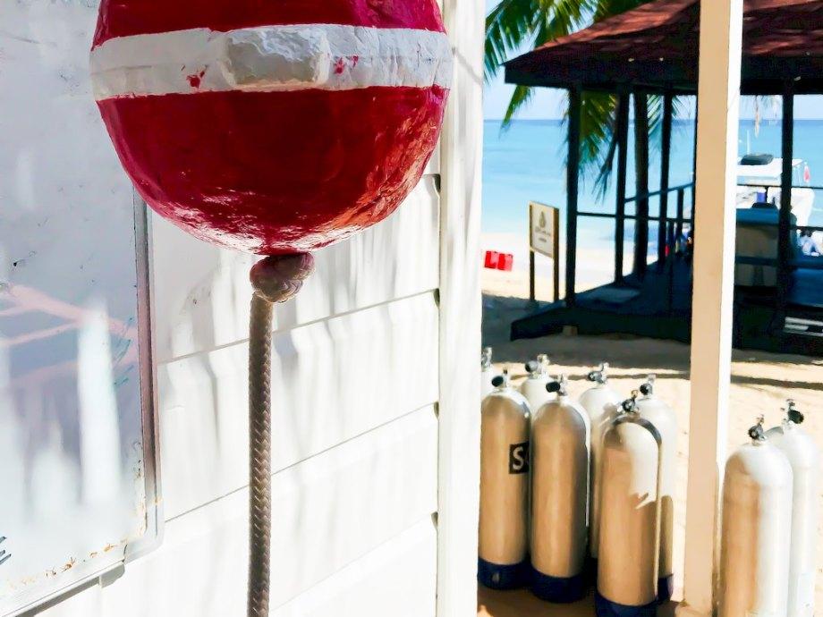 Un club de plongée en Jamaïque.