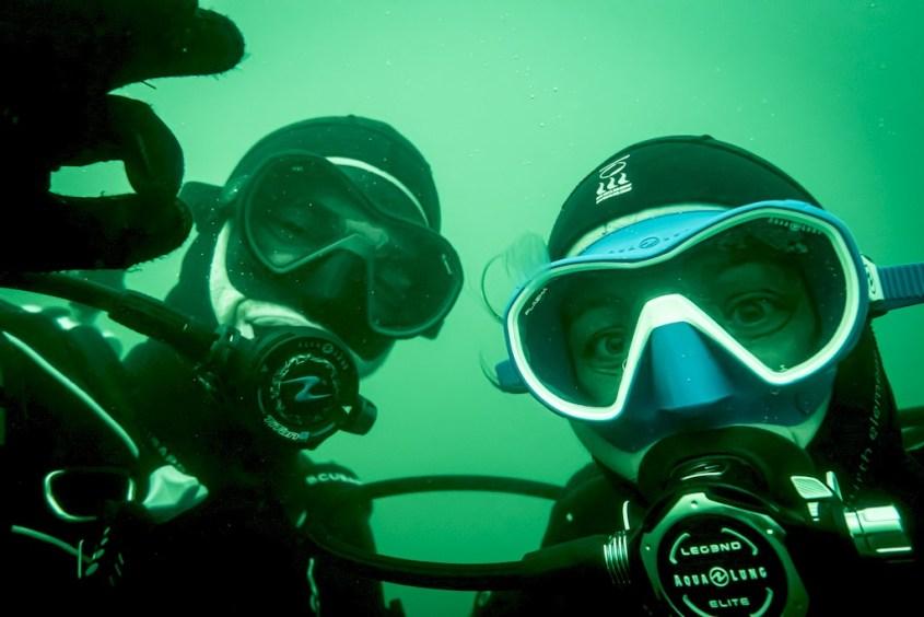 Geoffrey et Hélène lors d'une plongée en Zélande