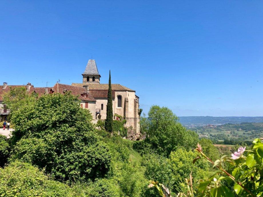 Paysage du Lot. Vue depuis le village de Loubressac.