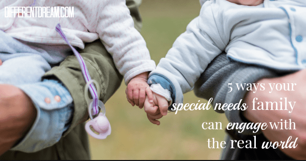Staying connected to the real world can be hard for parents of kids with special needs. These 5 strategies use every day events to foster connections.