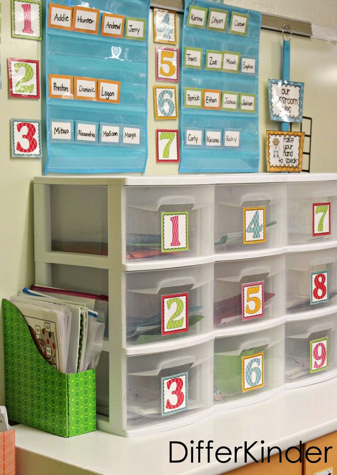 Organizing And Storing Math Stations For A Quick Change