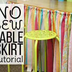 Diy Classroom Chair Covers Table With 4 Chairs No Sew Skirt Tutorial Differentiated Kindergarten Before I Start Have To Tell You Did Not Come Up The Knotting Idea There Are Knotted Valances And Bunting All Over Pinterest Blogging