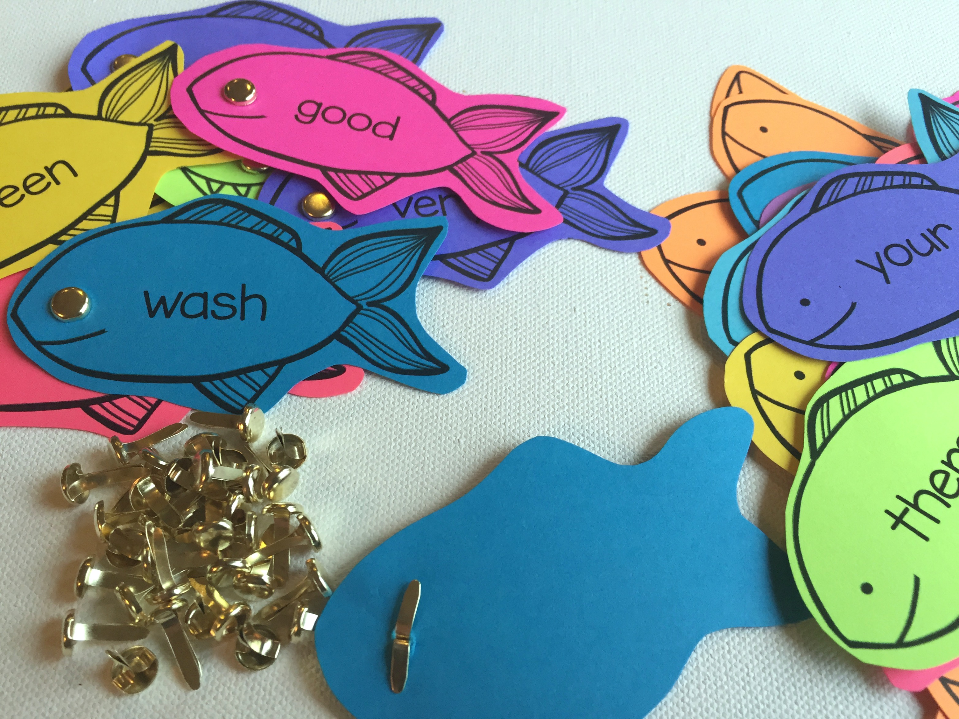 Colorize Your Classroom With Editable Sight Word Fishing