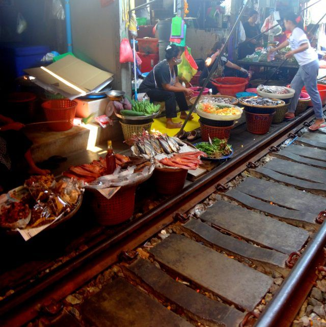 Maeklong Railway Market is a great short day trip from Bangkok. Here's how to get there.