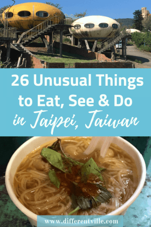 Planning a trip to Taipei and looking for some off the beaten track ideas. Check out our guide to 26 of the most unusual things to do in Taipei. From the strangest place to sleep, a relaxing massage - with knives - and the super cute cafe that sees you having coffee with an alpaca. Click to read it now or add it to your Taipei or Taiwan boards for later. #thingstodointaipei #taipei #taiwan