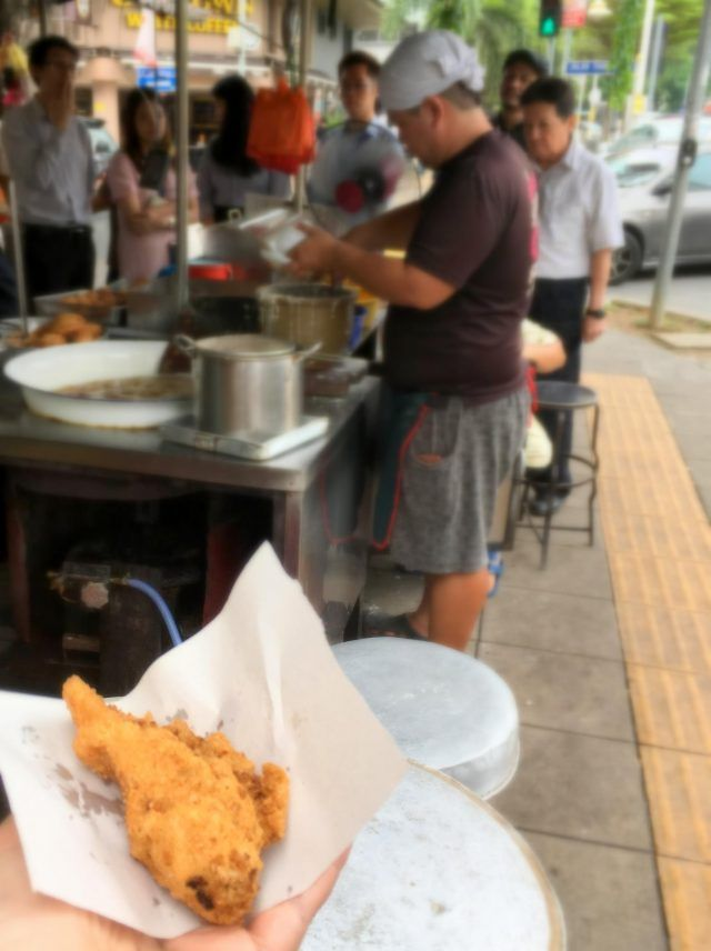 the banana fritter man in Brickfields Kuala Lumpur is a foodie must do