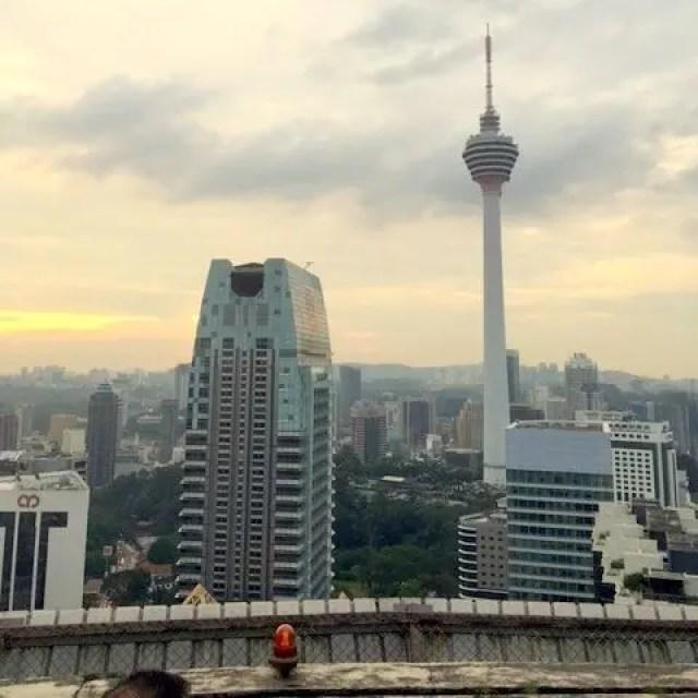 Sunset from Heli Lounge Bar Kuala Lumpur
