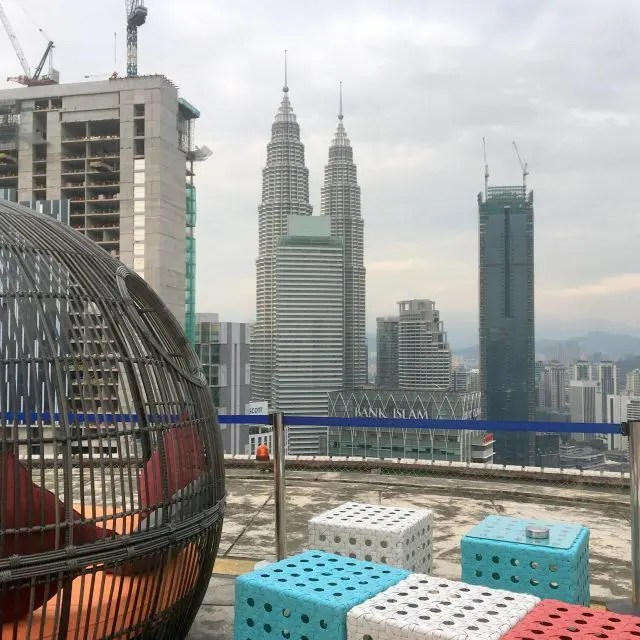 You get a great view of the Petronas Towers from Helipad Bar KL