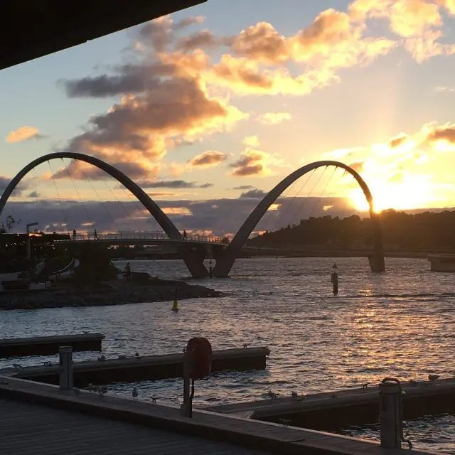 Catching the sunset from Elizabeth Quay is one of my top fun things to do in Perth.