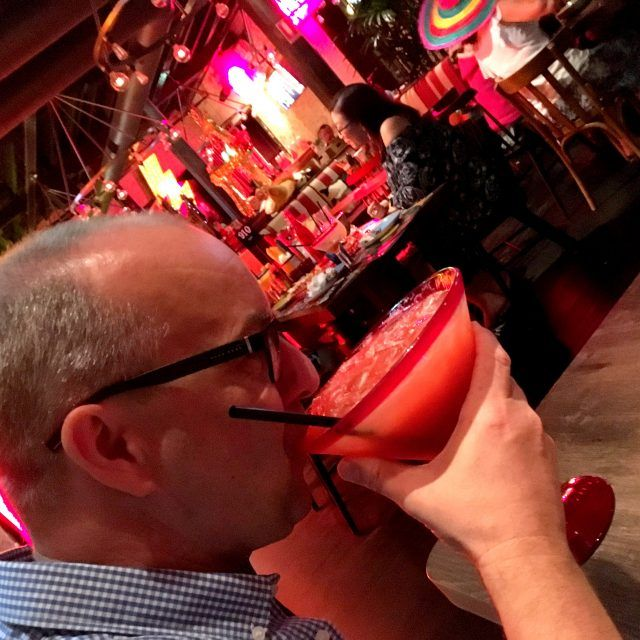 Drinking huge margaritas at El Camino Cantina is one of the fun things to do in The Rocks, Sydney