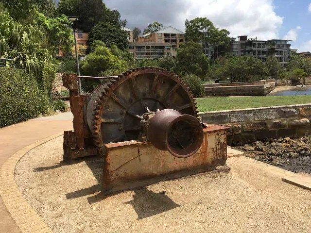 The Winch is just one of the interesting things to see on the Glebe Foreshore Walk