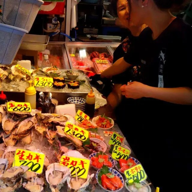Tsukiji is a great place to spend the early morning in Tokyo. Most of the stalls are open well before breakfast.