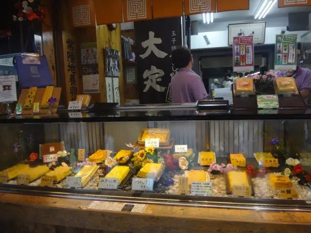 Tsukiji Outer Market is full of things to try - like Japanese omlette