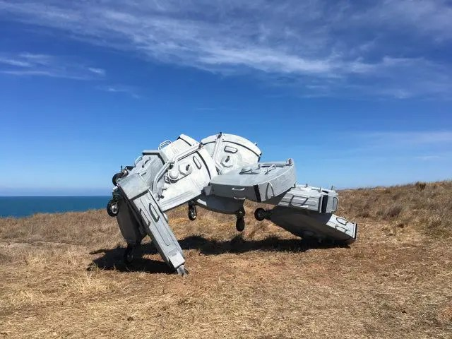 One of the exhibits on the new scultpure trail on Granite Island, South Australia