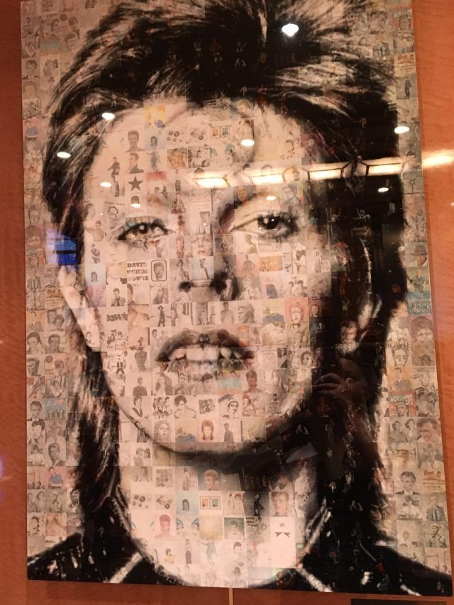 This clever picture of David Bowie can be found on the Majestic Princess