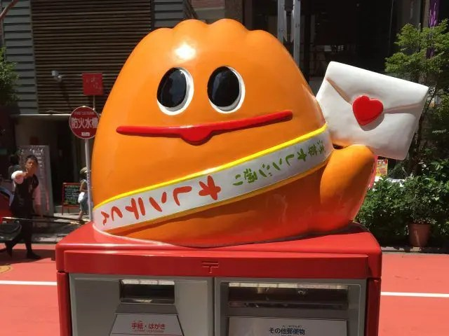 Orante Kun is the mascot of Orange Street in Asakusa Tokyo