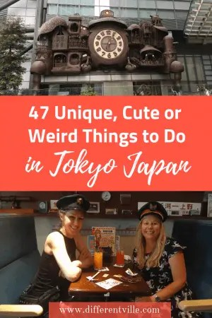 If you're planning a trip to Tokyo and looking for some more unique things to do this is the post for you. From super cute things to eat,some different things to do in Tokyo at night and the best unique experiences Tokyo has to offer. Click to read it now or save it to your Tokyo or Japan boards until later. #Tokyo #thingstodointokyo