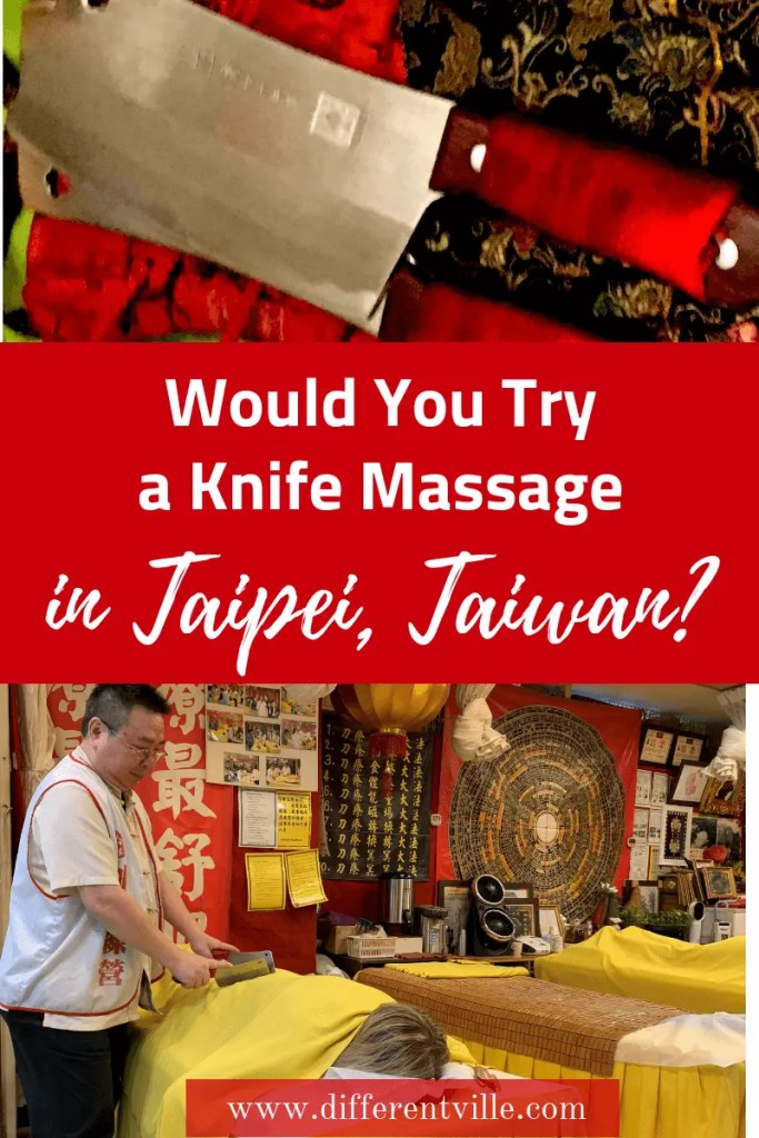 Knife Massage is a traditional form of massage in Taiwan. We gave it a try at two different places in Taipei - so, what's it like and should you add it to your list of things to do in Taipei? #taipei #Taiwan #ThingstodoinTaipei #massage