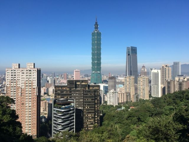 View of Taipei 101 from Elephant Mountain