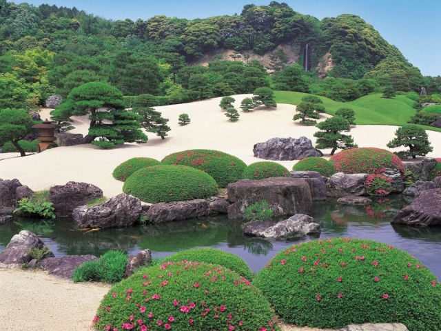 One of the Adachi Museum of Art Gardens in Yasugi, Japan. Unusual as they are designed to be viewed from inside like paintings.