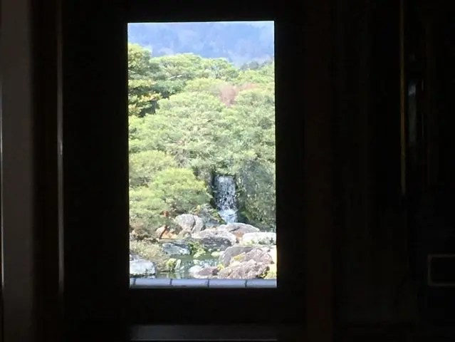The Living Scroll at the Adachi Museum of Art, Japan. Here the gardens are framed to look like paintings viewed from the outside
