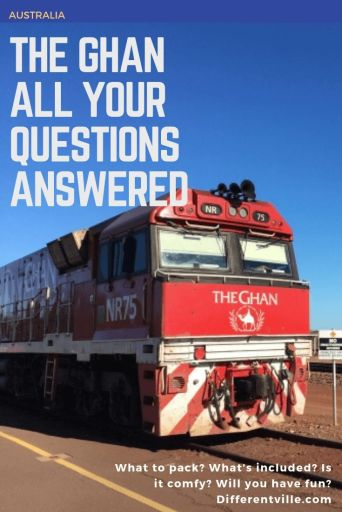 The Ghan train in Darwin