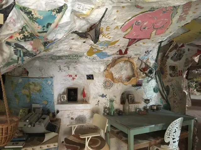 Inside Crocodile Harry's home Coober Pedy