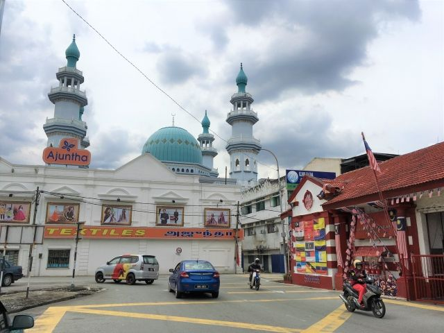 Mosque and firestation in Klang