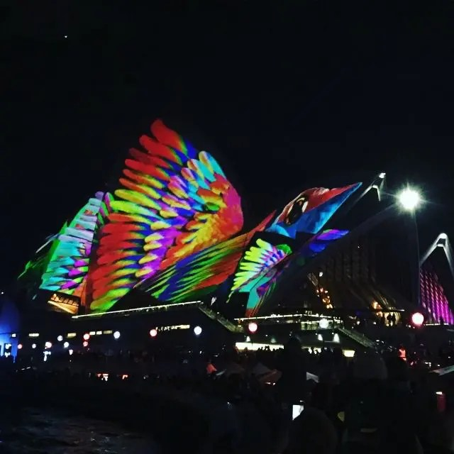 Sydney Opera House during Vivid - one of the fun things to do in Circular Quay