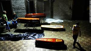 2013 01 29 Coffins of Brazil Nightclub Victims