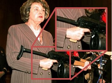 Sen. Feinstein has been fighting to regulate assault weapons for decades, but still doesn't know not to put her finger on the trigger.