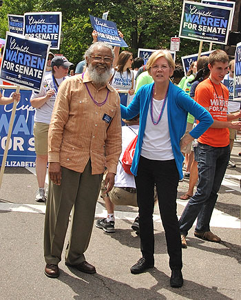 2013-08-23 Byron Rushing with Elizabeth Warren