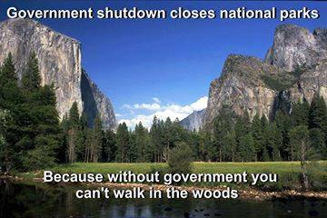 """The """"keep people out"""" mentality is especially ridiculous when applied to wilderness. Does the federal government really believe that the Earth is a government facility? Think about that one for a minute..."""