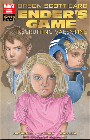Peter, Valentine, and Ender Wiggin from the Marvel comics.