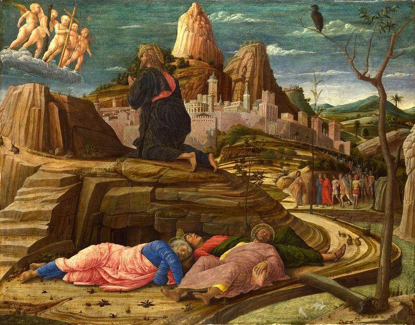 Andrea Mantegna's Agony in the Garden, circa 1460