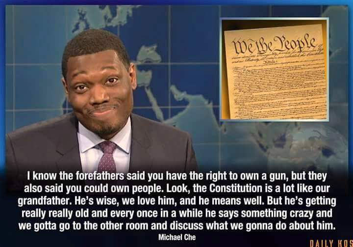 Michael Che gun forefathers quote