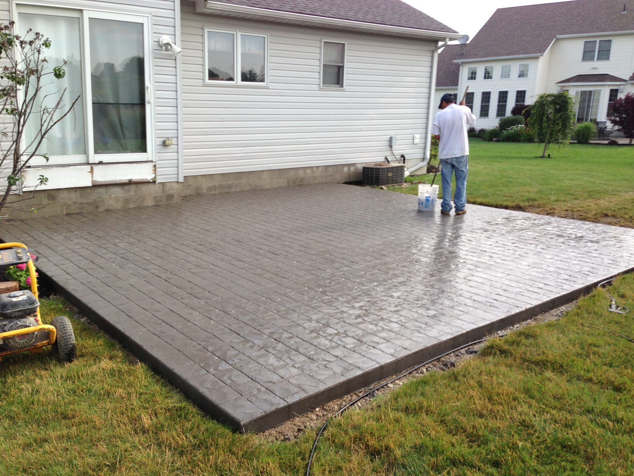 Colored and Stamped Concrete  DiFranco Contractors