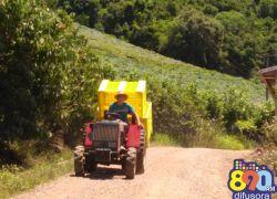 Localidades do interior de Bento ainda aguardam melhorias das estradas para a safra