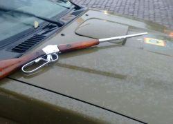 Arma de grosso calibre localizada em área de buscas em Monte Belo