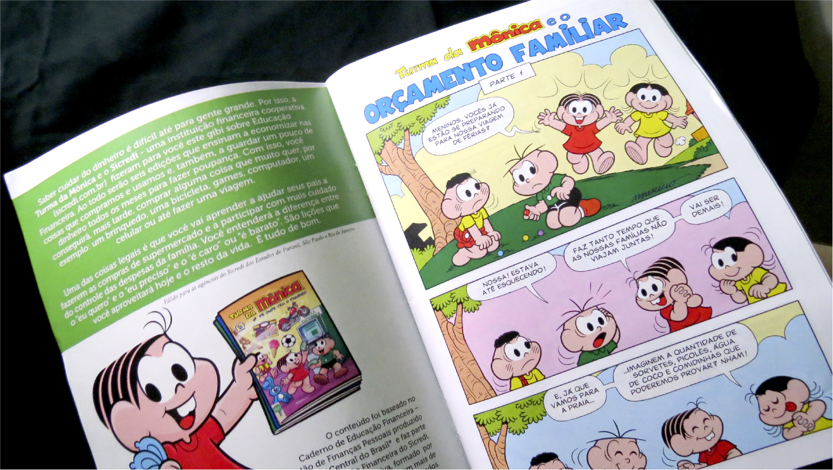 Turma da Mônica lança série de gibis sobre educação financeira e Sicredi distribui nas escolas
