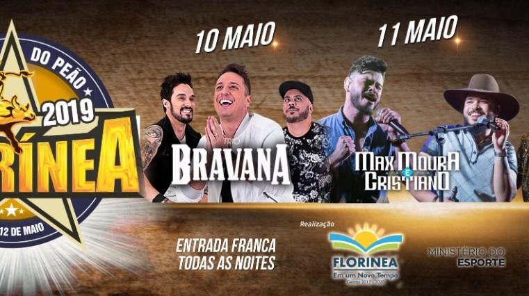Com grande estrutura e grade de shows, começa hoje a 21ª Festa do Peão de Florínea