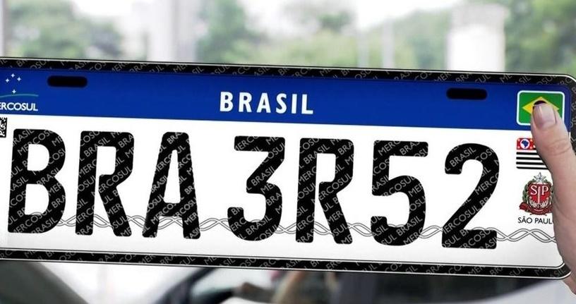 Placa Mercosul será obrigatória a partir de fevereiro em veículos do Estado de São Paulo