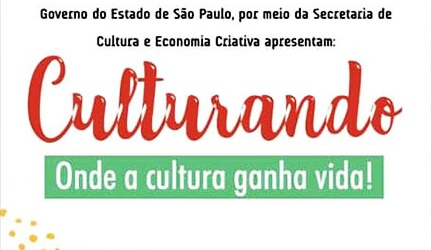 Secretaria de Cultura divulga programação do projeto 'Culturando' que acontece no próximo sábado