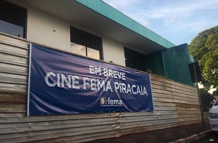 FEMA inicia reforma de cinema municipal e reinauguração deverá acontecer no segundo semestre