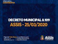 Novo Decreto, 8.109, dispõe sobre casas lotéricas, instituições bancárias e Restaurante Popular