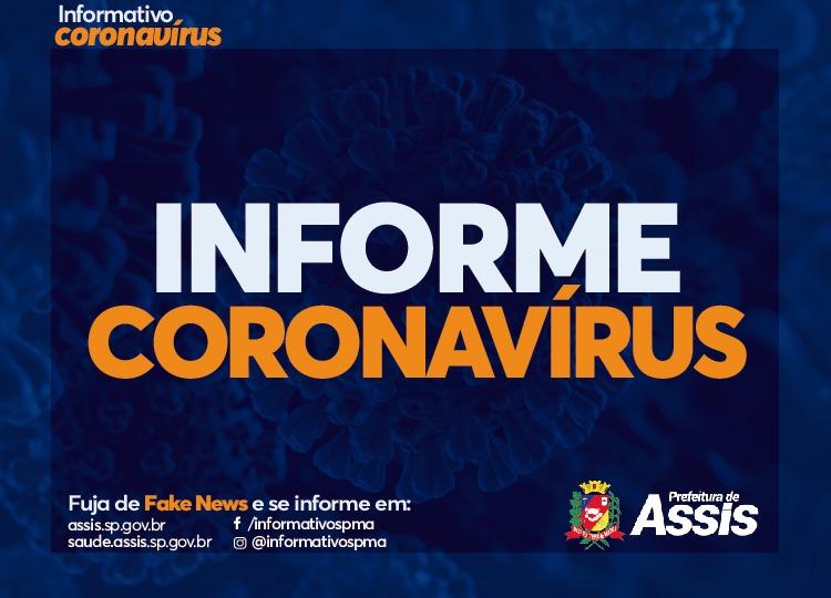 Assis tem 1.699 casos positivos de COVID-19 desde o início da pandemia