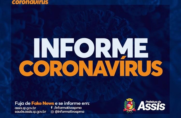 Assis tem 1.911 casos positivos de COVID-19 desde o início da pandemia