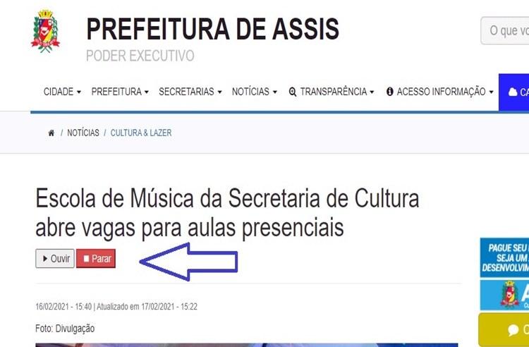Prefeitura de Assis lança plataformas digitais para portadores de deficiência auditiva e visual