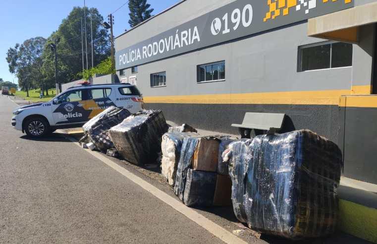 Polícia Rodoviária apreende mercadorias contrabandeadas na Rodovia Raposo Tavares.